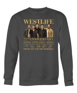 Westlife 22nd Anniversary 1998-2020 Sweatshirt