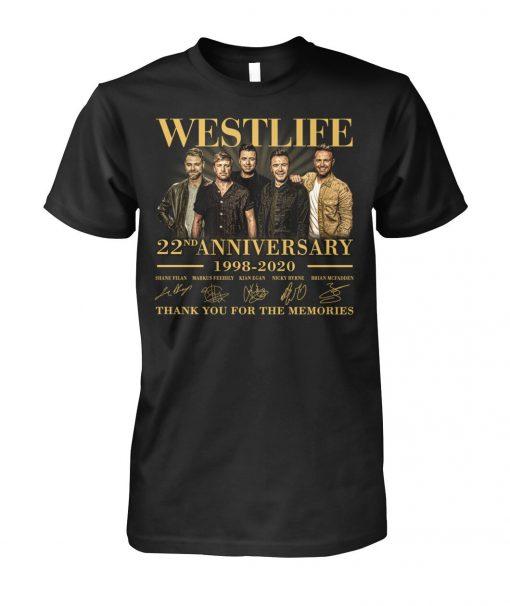 Westlife 22nd Anniversary 1998-2020 T-shirt