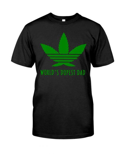 World's Dopest Dad Weed shirt