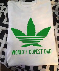 World's Dopest Dad Weed shirt banner