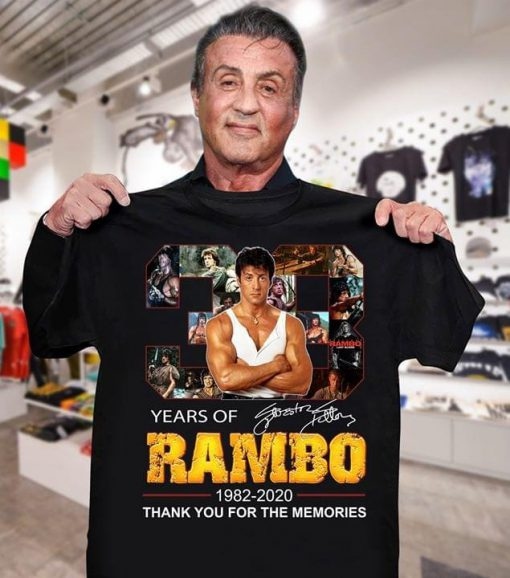 Years of Rambo 1982-2020 Thank you for the memories shirt