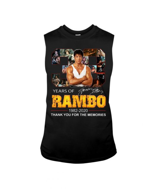 Years of Rambo 1982-2020 Thank you for the memories tank top