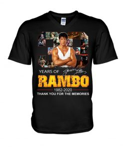 Years of Rambo 1982-2020 Thank you for the memories v-neck