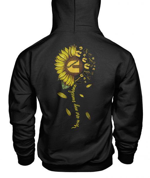 You are my sunshine Cummins Logo Sunflower hoodie