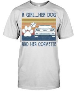 A Girl Her Dog And Her Corvette shirt