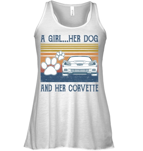 A Girl Her Dog And Her Corvette tank top