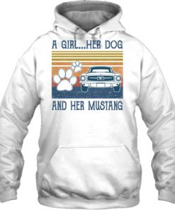 A Girl Her Dog And Her Mustang vintage hoodie