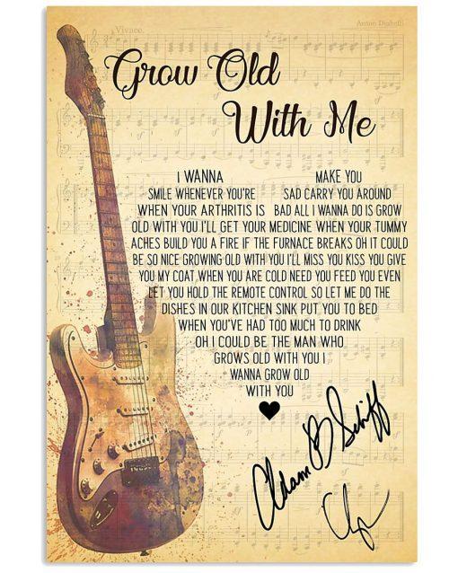 Adam Sandler - Grow Old With Me Lyrics Poster
