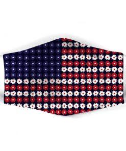 American Flag Flowers cloth mask
