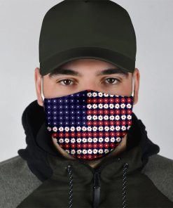 American Flag Flowers cloth mask2