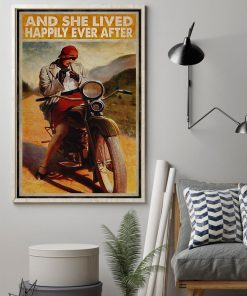 And she lived happily ever after Biker Girl poster1