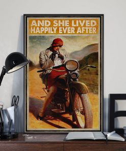 And she lived happily ever after Biker Girl poster2