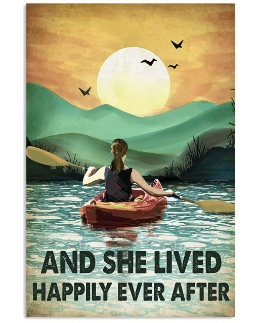 And she lived happily ever after poster Camping Rowing poster
