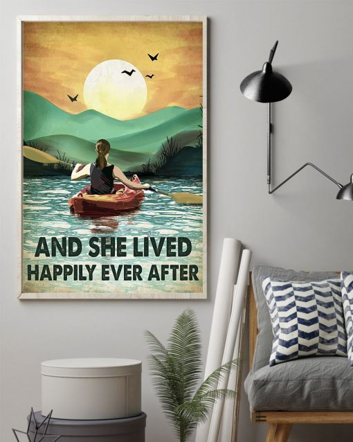 And she lived happily ever after poster Camping Rowing poster1