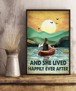 And she lived happily ever after poster Camping Rowing poster4