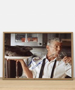 Anthony Bourdain signature poster 3