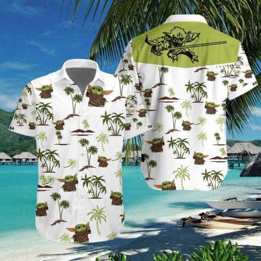 Baby Yoda Hawaiian shirt