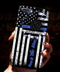 Back the blue Sunflower Thin Blue Line phone case