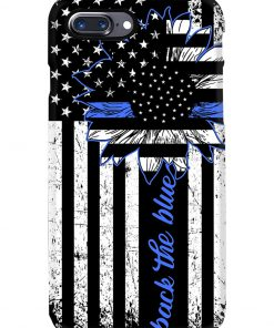 Back the blue Sunflower Thin Blue Line phone case1