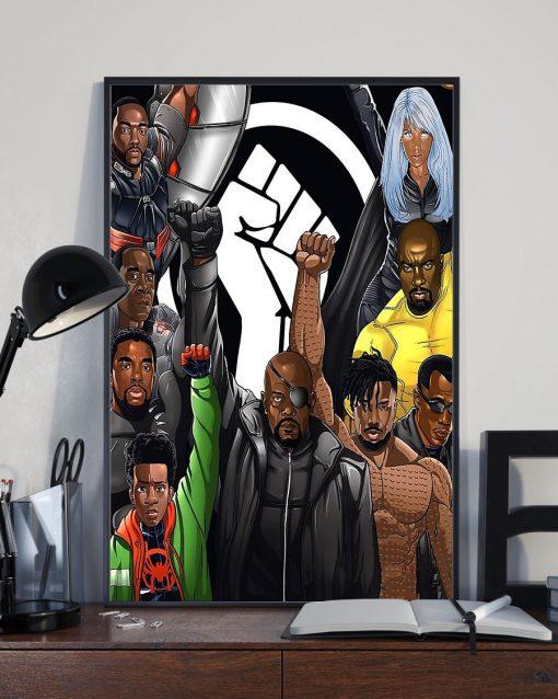 Black Lives Matter Superheroes poster2