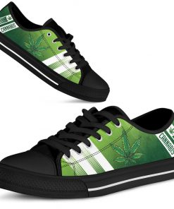 Cannabis Leaf Marijuana Weed Low Top Shoe