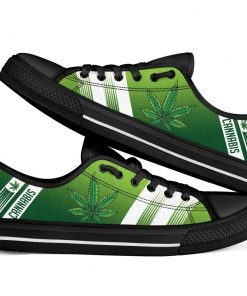 Cannabis Leaf Marijuana Weed Low Top Shoe1