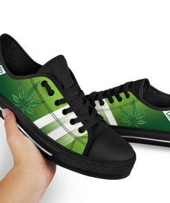 Cannabis Leaf Marijuana Weed Low Top Shoe2
