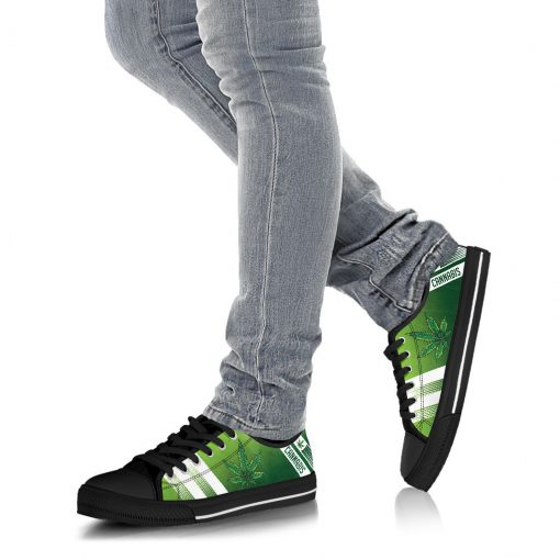 Cannabis Leaf Marijuana Weed Low Top Shoe3