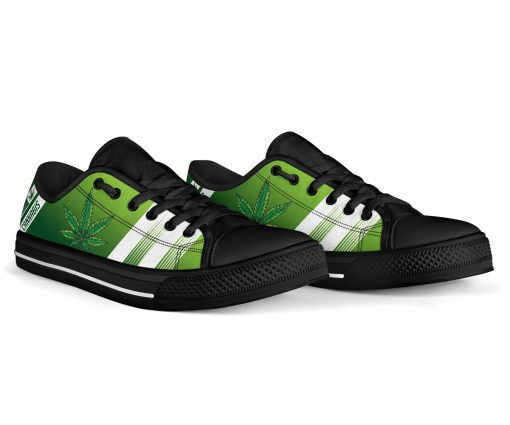 Cannabis Leaf Marijuana Weed Low Top Shoe4