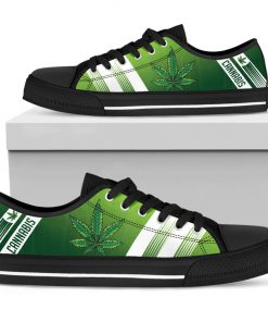 Cannabis Leaf Marijuana Weed Low Top Shoe5