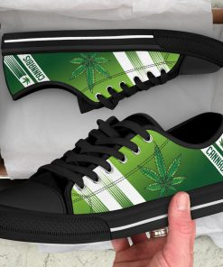 Cannabis Leaf Marijuana Weed Low Top Shoe6