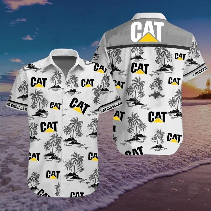 Caterpillar Cat logo Hawaiian shirt