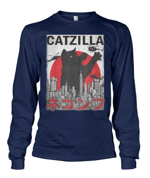 Catzilla Japanese Sunset Style Long sleeve