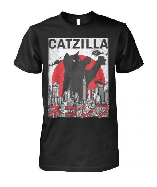 Catzilla Japanese Sunset Style T-shirt