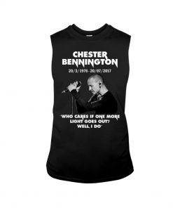 Chester Bennington Who cares if one more light goes out tank top
