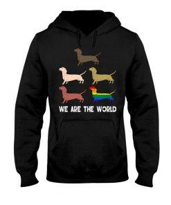 Dachshund We are the World hoodie