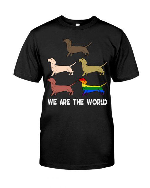 Dachshund We are the World shirt