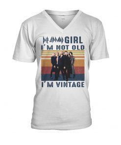 Def Leppard Girl I'm not old I'm vintage V-neck