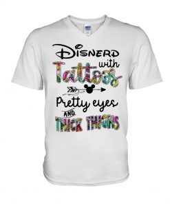 Disnerd with tattoos Pretty eyes and thick thighs V-neck