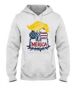 Donald Trump Eagle Merica Hoodie