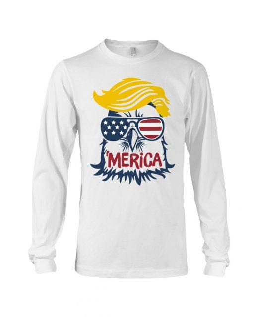 Donald Trump Eagle Merica Long sleeve