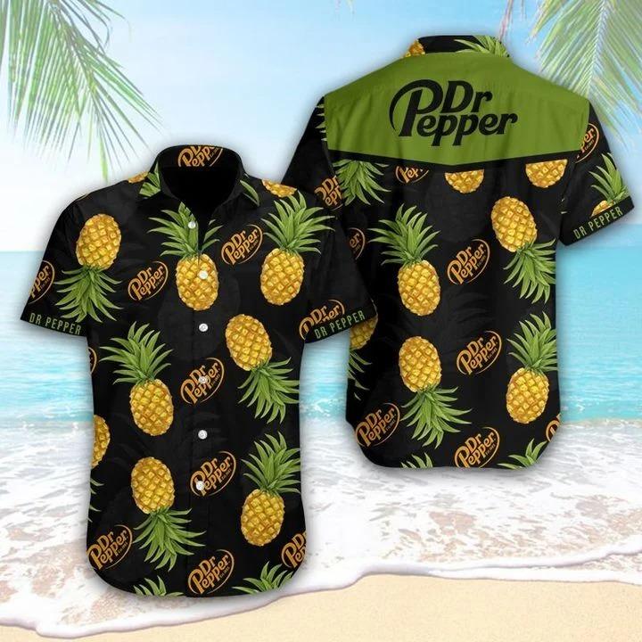 Dr Pepper Pineapple Tropical Hawaiian Shirt