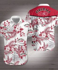 Fireball Cinnamon Whisky Hawaiian shirt