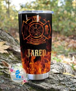 Firefighter Flame Fire Department personalized tumbler 2