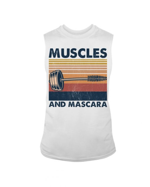 Fitness Muscles And Mascara tank top