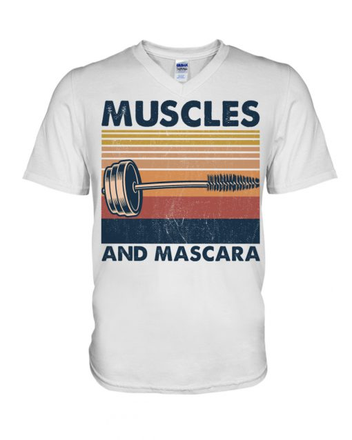Fitness Muscles And Mascara v-neck