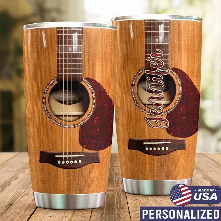 Guitar personalized tumbler