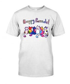 Happy Purride Cat LGBT T-shirt