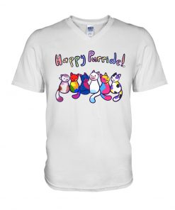 Happy Purride Cat LGBT V-neck