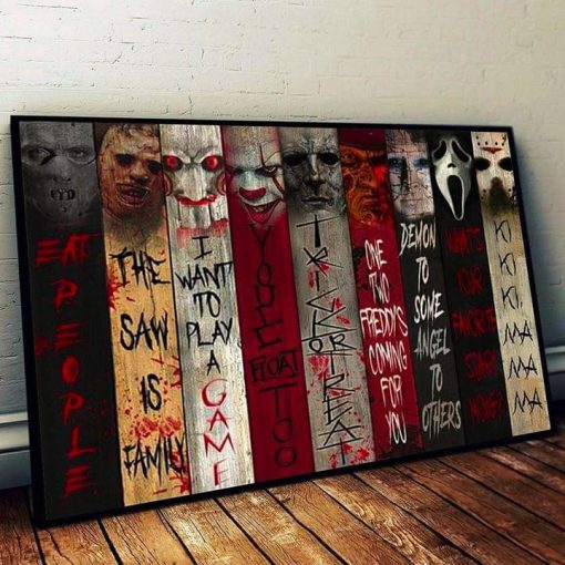 Horror movies Eat People The saw is family I want to play game poster